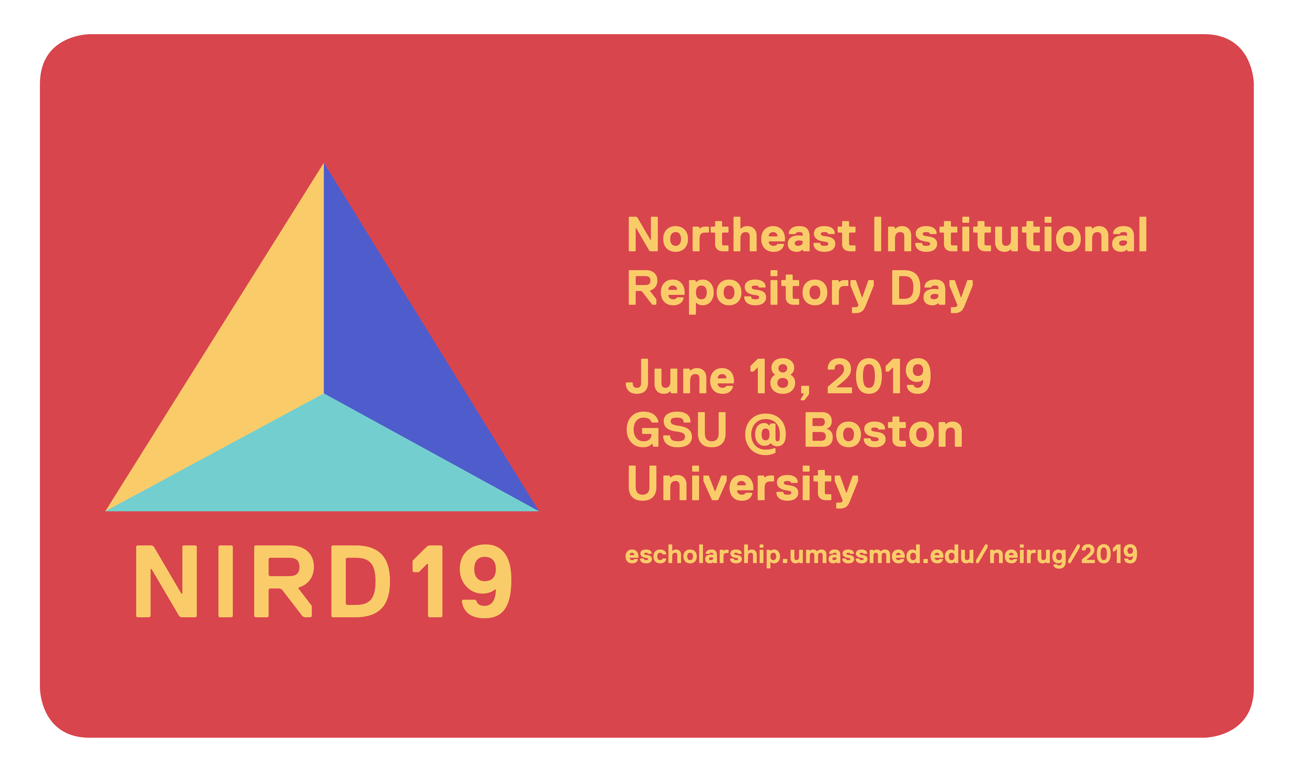 2019 Northeast Institutional Repository Day