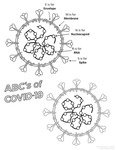 ABCs of COVID-19 Coloring Page by Angela Messmer-Blust